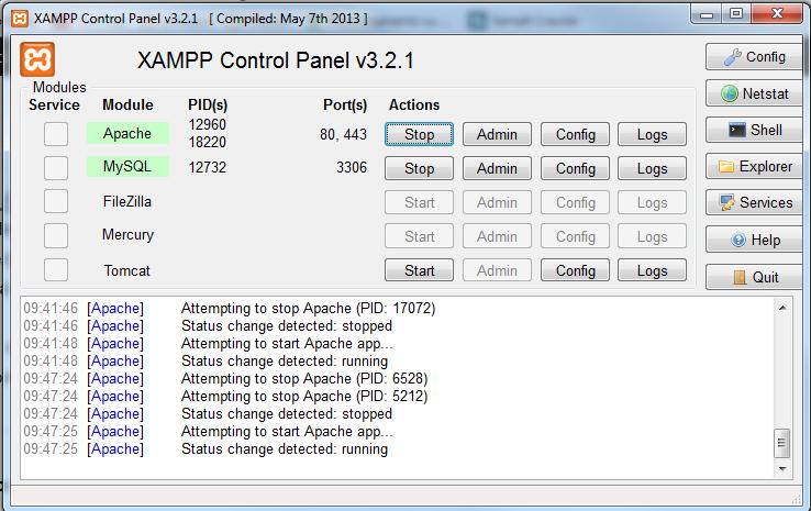xamppcontrol
